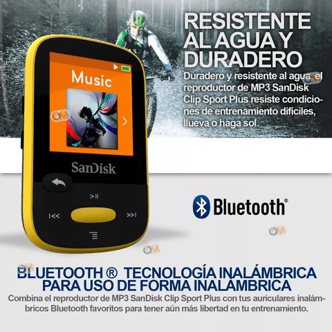 Reproductor Mp3 Sandisk Bluetooth Clip Sport Plus 16 Gb en internet