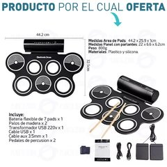 Bateria Electronica 7 Pads Doble Pedal - tienda online