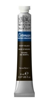 Aquarela Winsor & Newton Cotman 8ml 331 Ivory Black 0303331