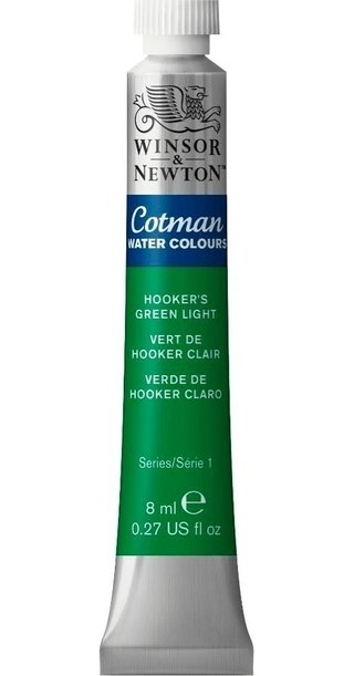 Aquarela Winsor Newton Cotman Hookers Green Light 0303314