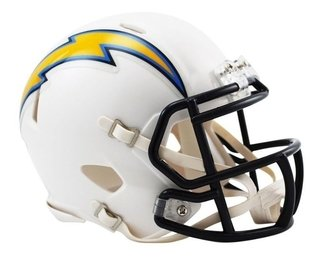 Los Angeles Chargers Mini Speed Capacete 1/4 Nfl Riddell