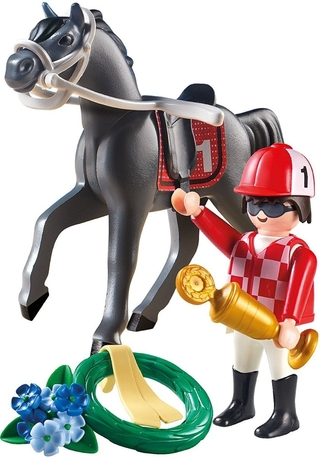 Playmobil Country Cavalo De Corrida E Jockey 9261
