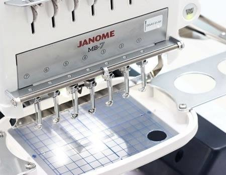 Janome Mb 7 Bordadora 7 Agujas + 6 Bastidores Made In Japón
