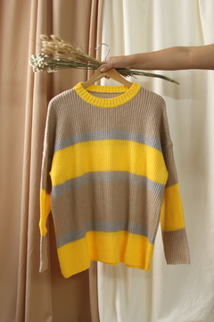 Sweater rayado oversize en internet