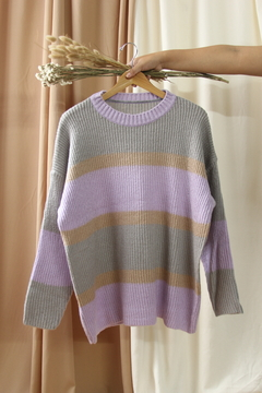 Sweater rayado oversize - EnC Collection