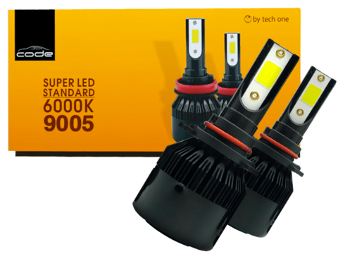 KIT SUPER LED TECH ONE (CODE) HB3 LAMPADA 6000K 12V 24V