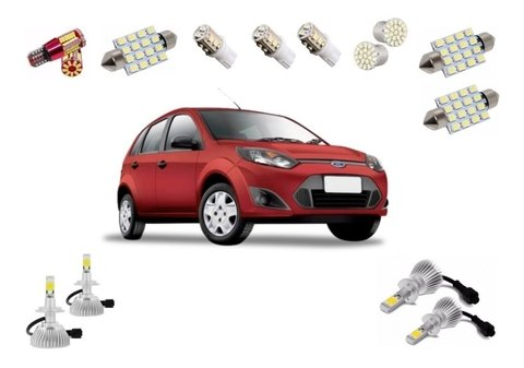 Kit Lampadas Led + Super Led Farois Fiesta 2006
