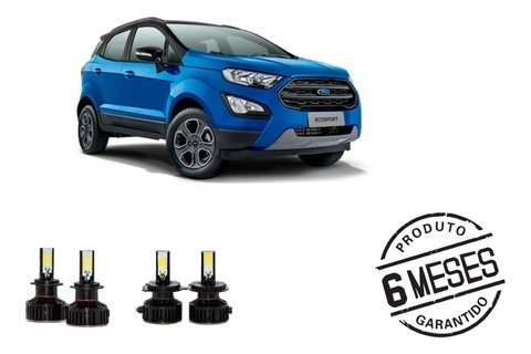 Kit Lampadas Super Led Tech One Milha E Farois Ford Ecosport