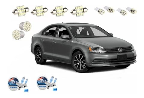 Kit Led + Philips Crystal Vision Alto Baixo Jetta 2015