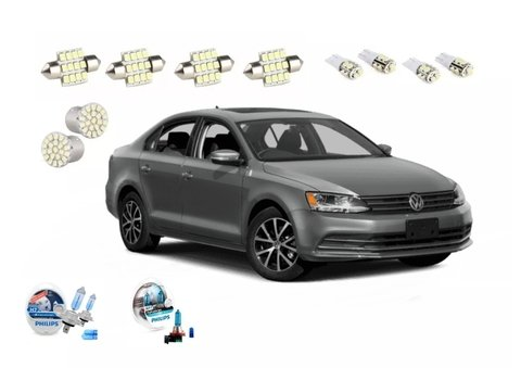 Kit Led + Philips Crystal Vision Baixo Milha Jetta 2015