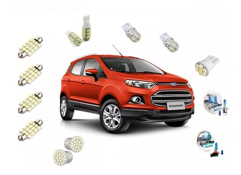 Kit Led + Philips Crystal Vision Farol E Milha Nova Ecosport