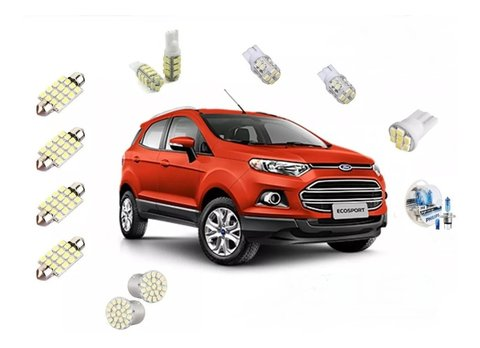 Kit Led + Philips Crystal Vision Farol Nova Ecosport