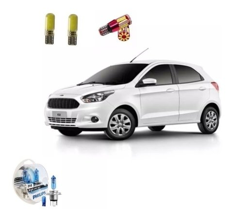 Kit Led + Philips Crystal Vision Farol Novo Ford Ka