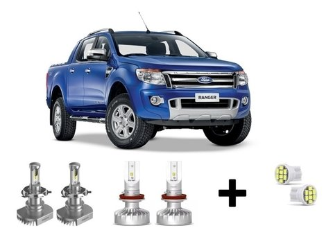 Kit Super Led Philips Ultinon + Brinde Ford Ranger 13/14