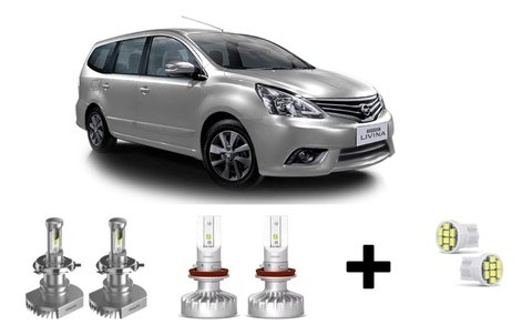 Kit Super Led Philips Ultinon + Brinde Nissan Livina