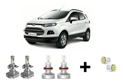 Kit Super Led Philips Ultinon + Brinde Nova Ecosport