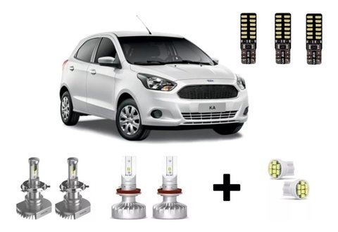 Kit Super Led Philips Ultinon + Internas Ford Ka 2018