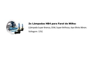 Lampadas Philips Crystal Vision Milha New Beetle