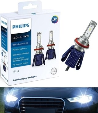 Lâmpada Super Led Farol Philips Ultinon Essential H8/h11/h16