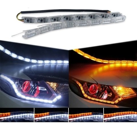 Par Barra De Led Sequencial Drl Com Seta