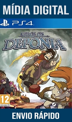 Chaos On Deponia Ps4 Psn Original 1 Mídia Digital