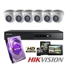 Kit 6 Camaras Domo + DVR + Disco Rigido