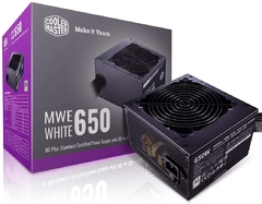 Fuente Cooler Master MWE 650W White 80plus