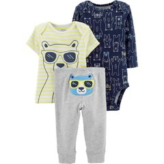 trio carters remera body pantalon