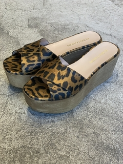 Zueco Cruzado Animal Print