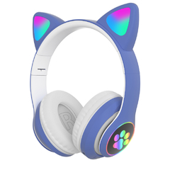 Auriculares Inalambricos Diseño Cat Luces LED