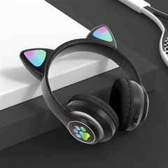 Auriculares Inalambricos Diseño Cat Luces LED - comprar online