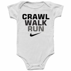 Body Bebê Nike Crawl Walk Run