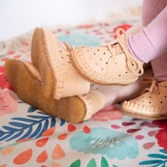 Image of Children Pelota Lace-up Slippers Natural