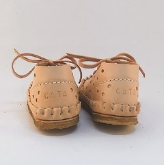 Children Pelota Lace-up Slippers Natural - Puchero y León