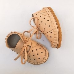 Children Pelota Lace-up Slippers Natural on internet