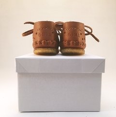 First Steps Pelota Lace-up Slippers Caramel - online store