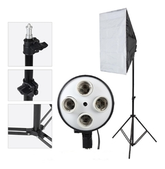 Kit Softbox 50x70 Soquete Quádruplo (s/ Lâmpadas)