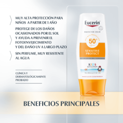 Eucerin Sensitive Protect SPF 50 Kids Sun Lotion Corporal - 150 ml en internet