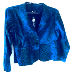 Blazer Azul Animal Print na internet
