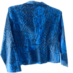 Blazer Azul Animal Print - Saggs