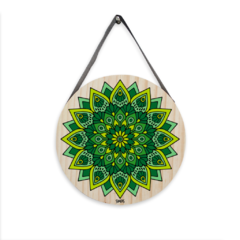 Placa Decorativa Mandala Verde