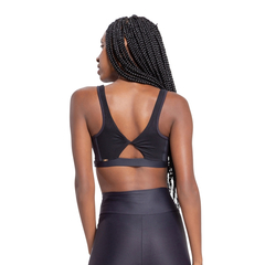 Top Live Fresh Twist Essential Feminino - Preto na internet