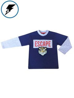 Remera ESCAPE Azul c/Tigre Bifaz en internet