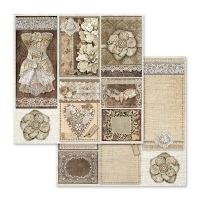 "Bloco 10 Papéis 30.5x30.5cm (12""x12"") + bônus - Old Lace - Mon Papier Scrapbook, Mixed Media, Decoupage e Cartonagem"