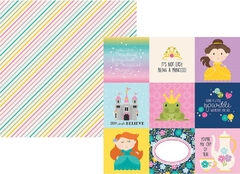 Little Princess - Papel 4x4 Elements - Simple Stories