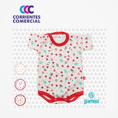 "BODY ""GAMISE"" ESTAMPADO  MANGA CORTA MAGIC KIDS NENA TALLE 5-7"