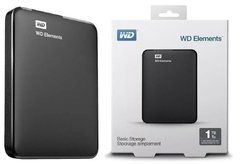DISCO DURO PORTABLE USB WESTERN DIGITAL 1TB  NEGRO