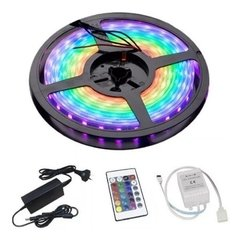 Tira Luces Led 5050 Rgb 5 Mts C/remoto Int-ext