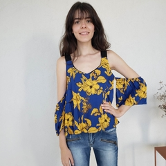 BLUSA BLUE FLOWER - D1 Look