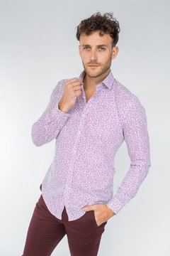 Camisa LUKE Slim Fit Bordó - comprar online